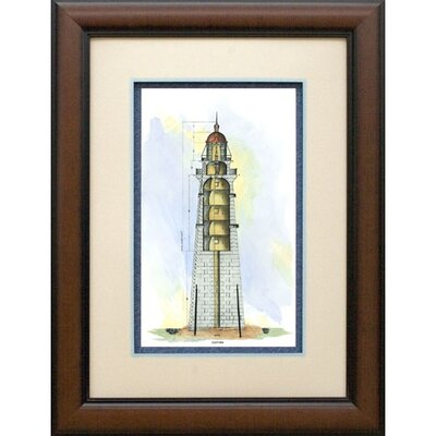 Lighthouse Section Framed Print