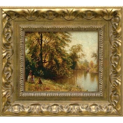 By the Lake, Giclee on Framed Canvas