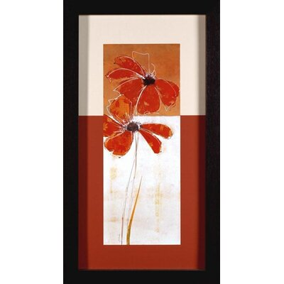 Red Flower II Canvas Transfer