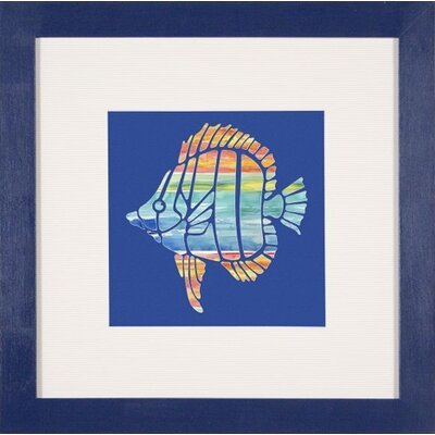 "Phoenix Galleries Tropical Fish 2 Framed Print - 24""x 24"""