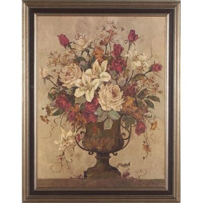 Floral Reflection 1 Canvas Transfer Framed Print