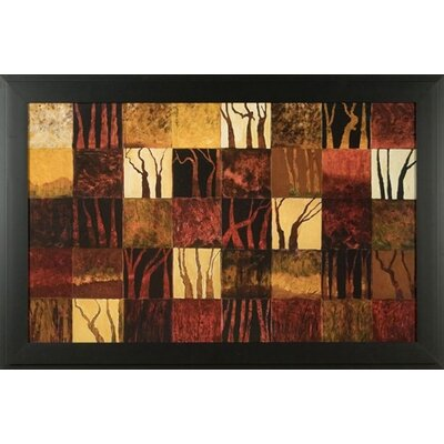 Dark Trees Canvas Transfer Framed Print