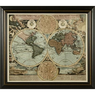 Phoenix Galleries World Map 1716 Framed Print