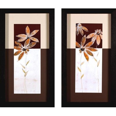 Phoenix Galleries Flowers in Brown Canvas Transfers