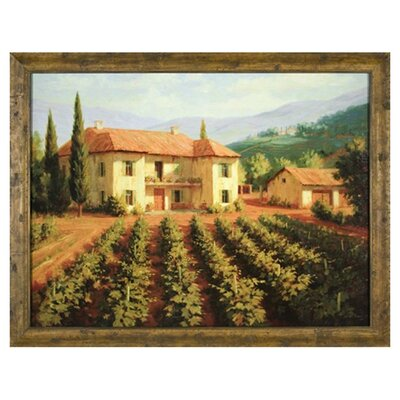 Tuscan Vineyard Canvas Transfer Framed Print