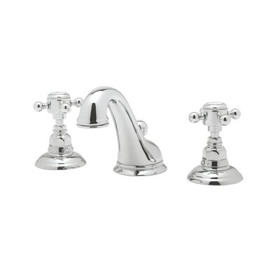 Rohl Rohl A1408XM-2 Country Bath Low Lead Widespread Bathroom Faucet with Pop-Up Drain and Metal Cross Handles