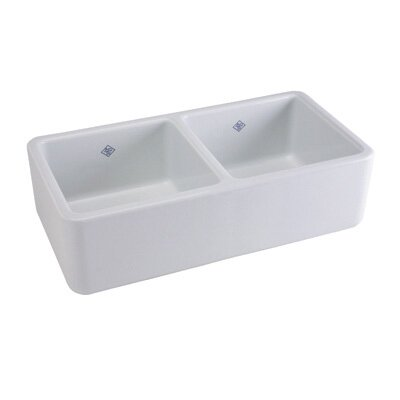 Rohl Farnworth Double Bowl Fireclay Kitchen Sink