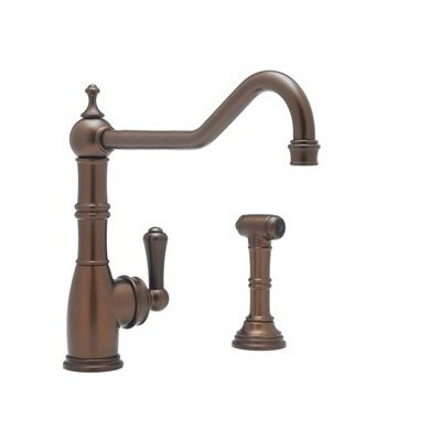 Rohl Perrin and Rowe Single Handle Single Hole Kitchen Faucet with Side Spray Rinse