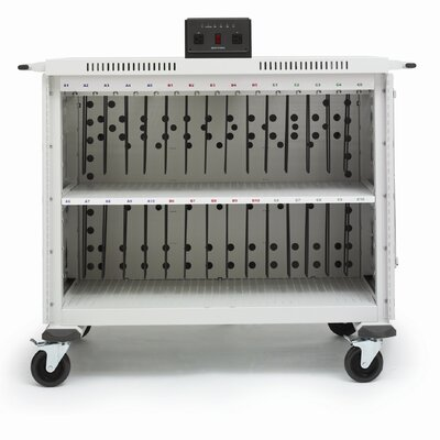 "Bretford Manufacturing Inc 30-Compartment Laptop Cart with 5"" Casters"