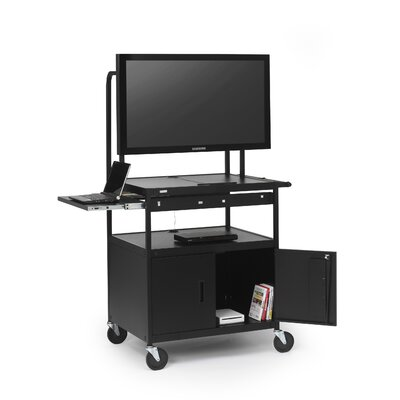 "Bretford Manufacturing Inc Cab Cart with Laptop Shelf for 26"" to 42"" Flat Panels"