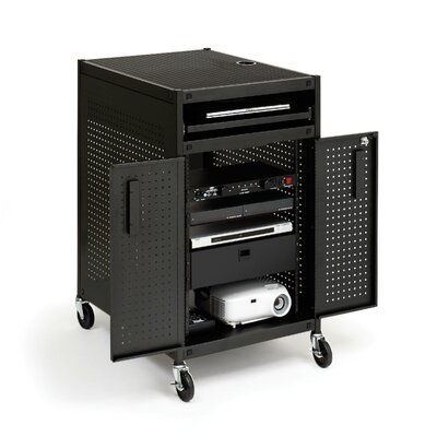 Bretford Manufacturing Inc Mobile Multimedia Presentation Cart with Locking Cabinet