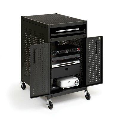 Bretford Manufacturing Inc Mobile Multimedia Presentation Cart with Locking Cabinet