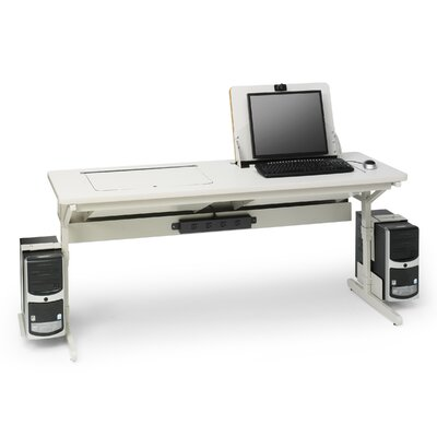 "Bretford Manufacturing Inc SmartDeck 66"" W  x 24"" D Computer Table"