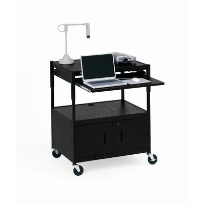 Bretford Manufacturing Inc Height Adjustable Multimedia Cabinet Cart with Optional Electrical Unit