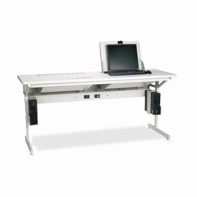 "Bretford Manufacturing Inc SmartDeck 72"" x 24"" Mini Tower Computer Table"