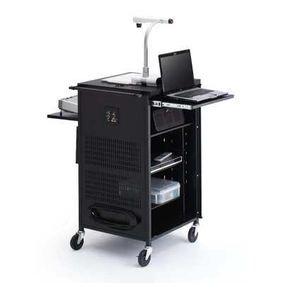 Bretford Manufacturing Inc Multimedia Compact Presentation Cart with Antimicrobial Surface