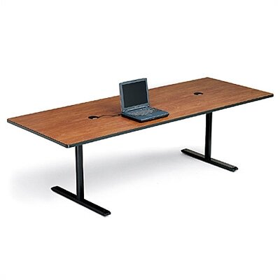 "Bretford Manufacturing Inc 36"" Deep Rectangle Conference Table - Two Grommet Holes"