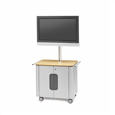 "Bretford Manufacturing Inc Cabinet Flat Panel Cart with 72"" H (42"" - 61"" Screens)"