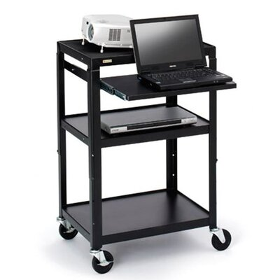 "Bretford Manufacturing Inc Multimedia Adjustable Cart with 4"" Caster"