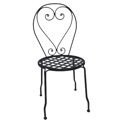 DC America Wrought Iron Dining Side Chair, Set of 4