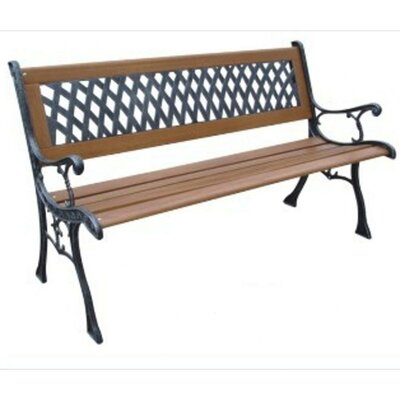 Dc America Mesh Resin Wood And Cast Iron Park Bench Reviews Wayfair