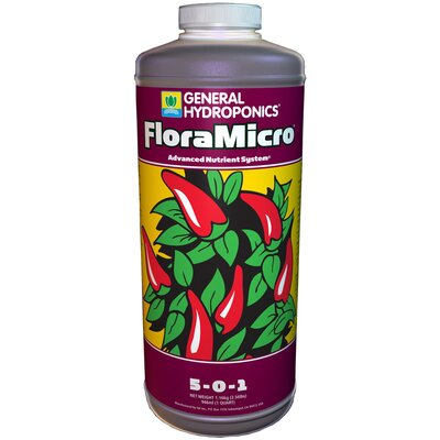 General Hydroponics 1 qt Flora Micro Fertilizer