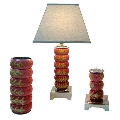 <strong>Global Pickings</strong> Decorative Bangle Lamps 3 Piece Princess Spell Table Lamp Set