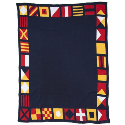 In2Green Eco Designer Nautical and Border Flags Throw Blanket