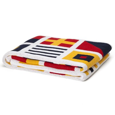 In2Green Eco Designer Nautical and Signal Flags Throw Blanket
