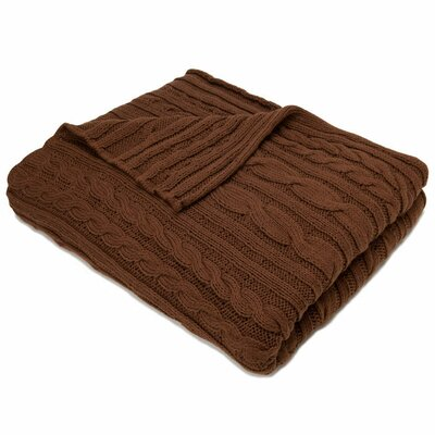 Organic Fisherman Cable Cotton Throw Blanket