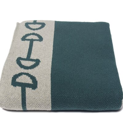 In2Green Horse Bit Cotton Throw