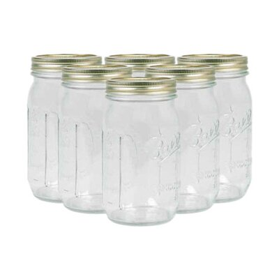 <strong>Alltrista</strong> Ball Half Gallon Wide Mouth Canning Jar (Set of 6)