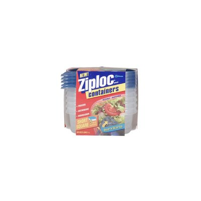 Johnson Wax Ziploc Short Square Container