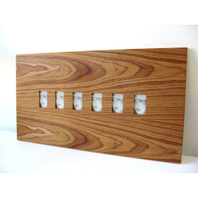 Boom Design Six Slot Wood Picture Frame