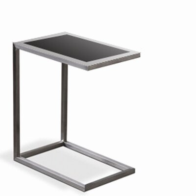 sohoConcept Alfa Black Glass End Table