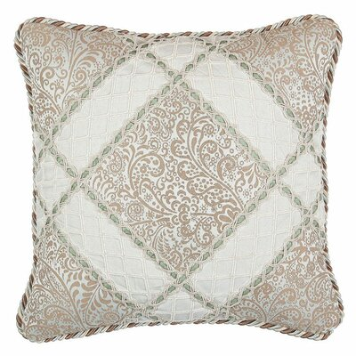 Swanson Pillow with Velvet Braid and Cord