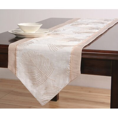Organic Table Runner with Embroidery