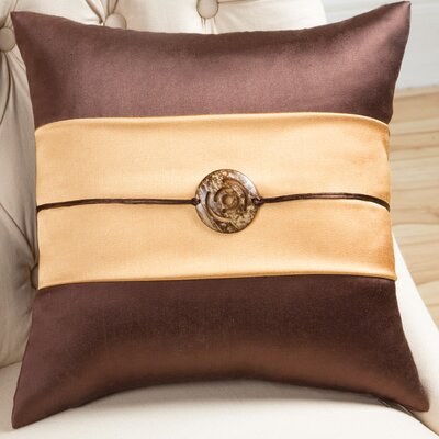 Sandy Wilson Fusion Decorative Pillow with Coconut Button