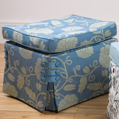 Sandy Wilson Fresca Curved Pillow Top Cube Ottoman