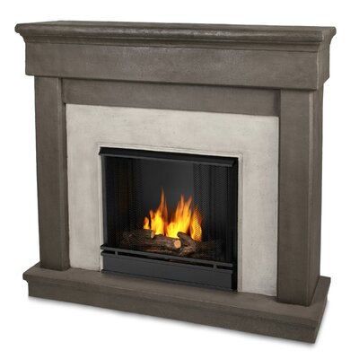 cascade cast mantel gel fuel fireplace wayfair. Black Bedroom Furniture Sets. Home Design Ideas