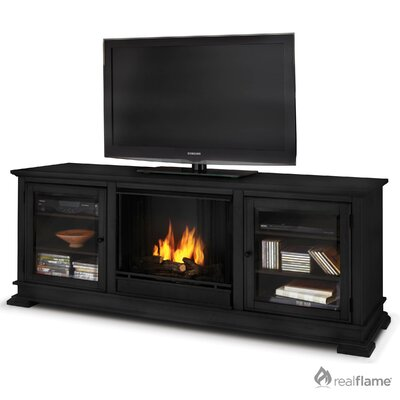"Real Flame Hudson 68"" Ventless TV Stand with Gel Fuel Fireplace"