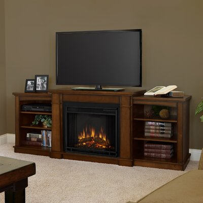 CORNER FIREPLACES: CORNER MEDIA STAND WITH FIREPLACE