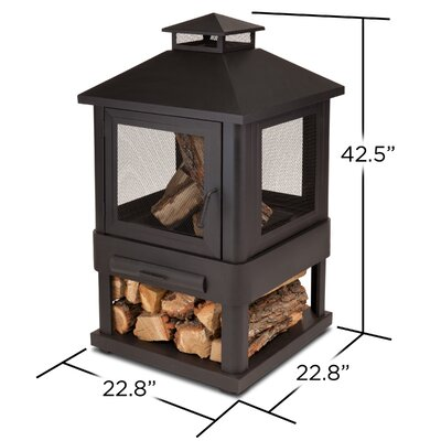 Real Flame Trestle Wood-Burning Fire Pit