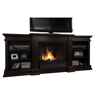 real flame fresno tv stand with gel fuel fireplace reviews wayfair