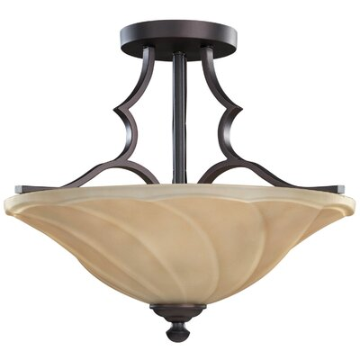 Canarm Allyson 3 Light Semi-Flush Mount