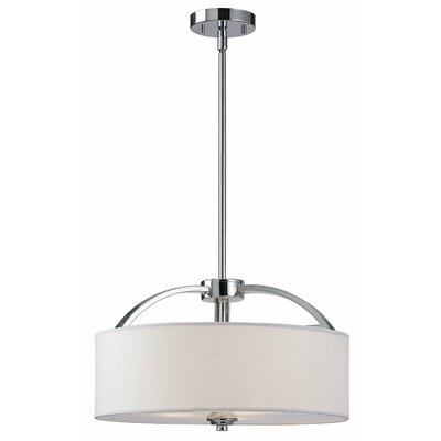 Milano 3 Light Rod Chandelier