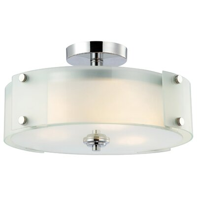 Canarm Ryker 3 Light Semi-Flush Mount