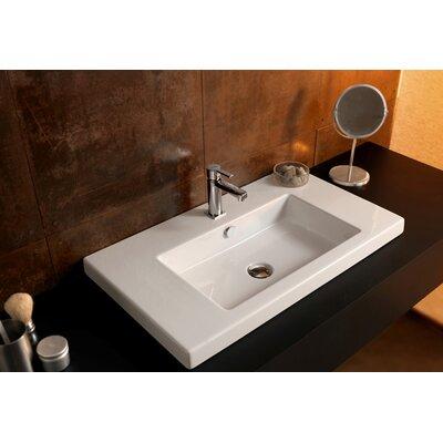 Ceramica Tecla by Nameeks Cangas Ceramic Bathroom Sink with Overflow