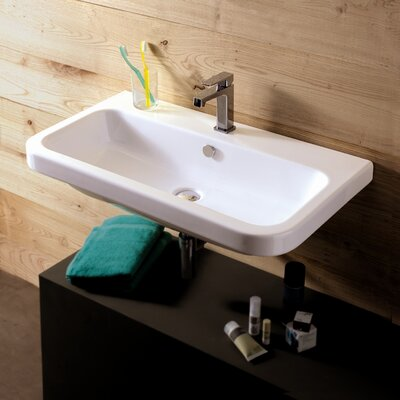 Ceramica Tecla by Nameeks Electra Ceramic Bathroom Sink with Overflow