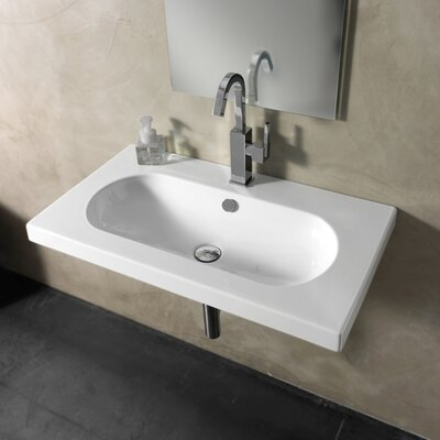 edo wide ceramic bathroom sink with overflow wayfair